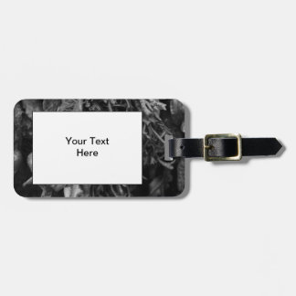 Seaweed in Black and White. Luggage Tag