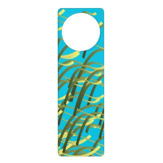 Seaweed on aqua door knob hangers