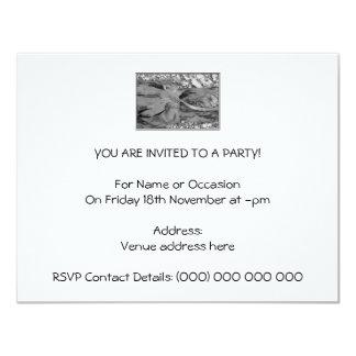 """Seaweed on Pebbles. 4.25"""" X 5.5"""" Invitation Card"""