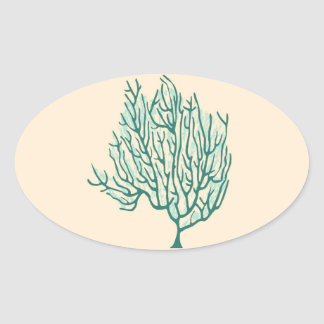 Seaweed Oval Sticker
