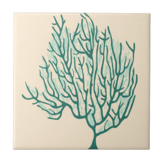 Seaweed Small Square Tile