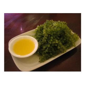 Seaweed with a lemon dip postcard