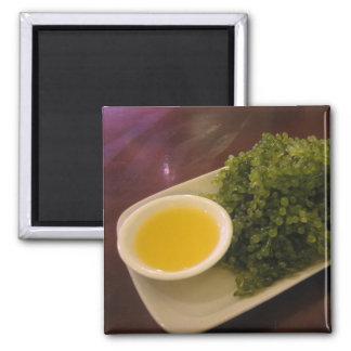 Seaweed with lemon dip square magnet