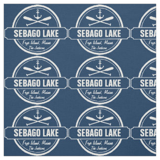 Sebago Lake Maine Personalized Town and Name Fabric