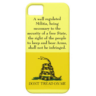 Second Amendment - Don't Tread on Me iPhone 5 Cases