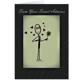 Secret Admirer Card Stick Person