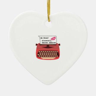 Secret Admirer Ceramic Heart Decoration