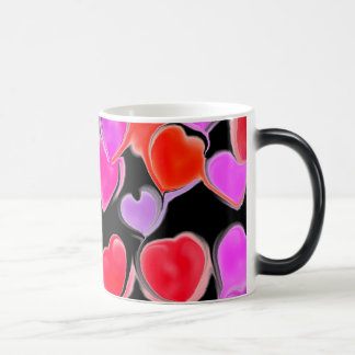 Secret Admirer Hearts Magic Mug