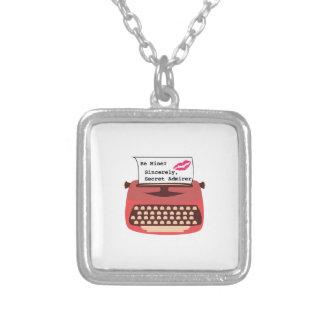 Secret Admirer Square Pendant Necklace