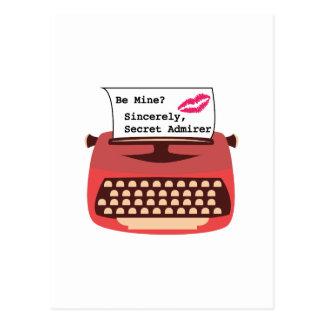 Secret Admirer Postcard