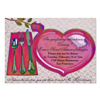 Secret Admirer Valentine's Dinner Invitation