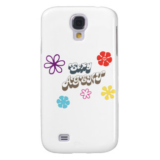 secret agent 69 flowers psychedelic retro galaxy s4 cases
