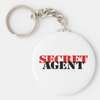 Secret Agent Basic Round Button Key Ring
