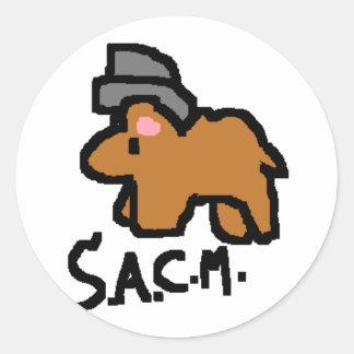 Secret Agent Camel Man Round Sticker