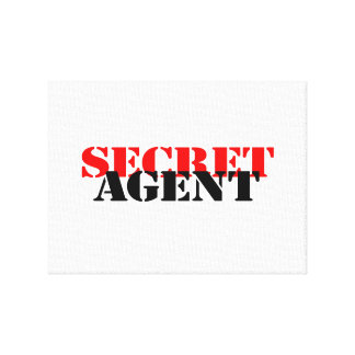 Secret Agent Gallery Wrapped Canvas