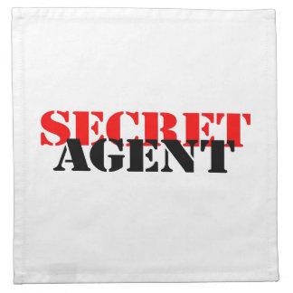 Secret Agent Printed Napkin