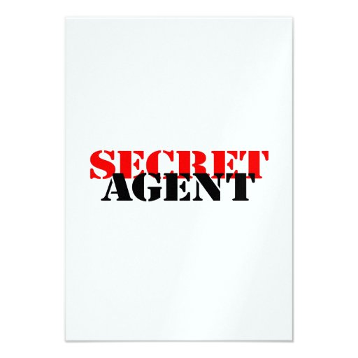 Secret Agent Custom Invitations