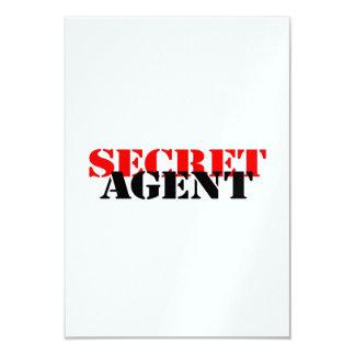 Secret Agent 9 Cm X 13 Cm Invitation Card
