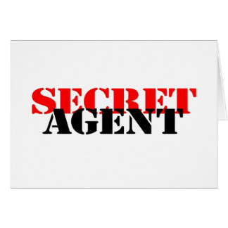 Secret Agent Note Card
