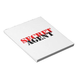 Secret Agent Scratch Pad