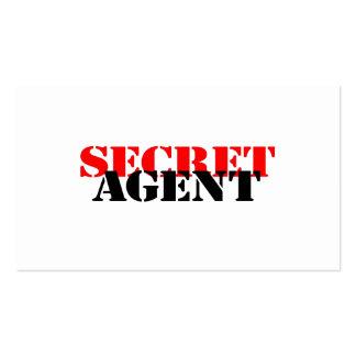 Secret Agent Pack Of Standard Business Cards