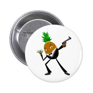 Secret Agent Pineapple 6 Cm Round Badge