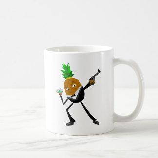 Secret Agent Pineapple Basic White Mug