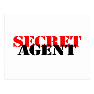 Secret Agent Postcard