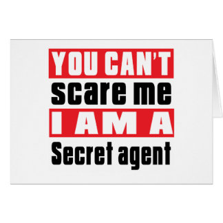Secret agent scare designs greeting card