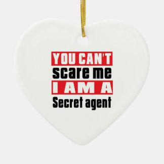 Secret agent scare designs ceramic heart decoration