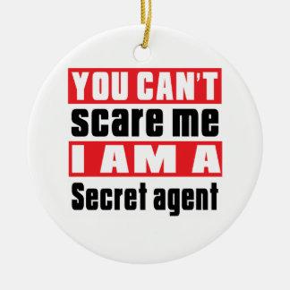 Secret agent scare designs round ceramic decoration
