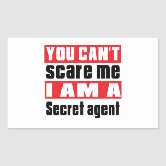 Secret agent scare designs rectangular sticker
