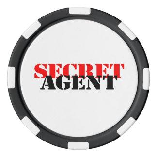 Secret Agent Set Of Poker Chips