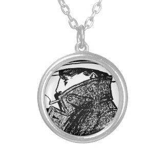 Secret Agent Silver Plated Necklace
