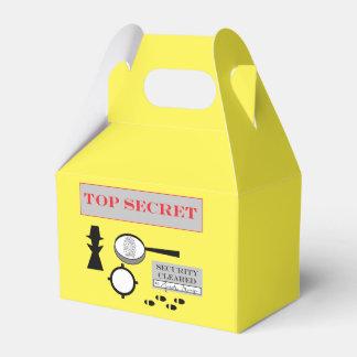 """""""Secret Agent/Spy"""" Party Favor Box Favour Boxes"""