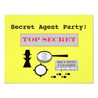 """Secret Agent/Spy"" Party Invitations"