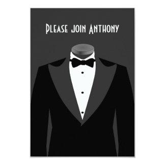 "Secret Agent Themed birthday party invite 3.5"" X 5"" Invitation Card"