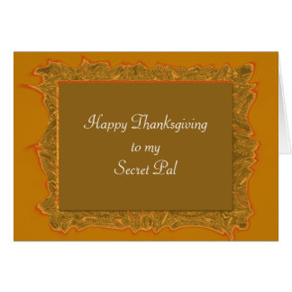 Secret Pal Thanksgiving Card