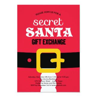 Secret Santa Christmas Party Invitations