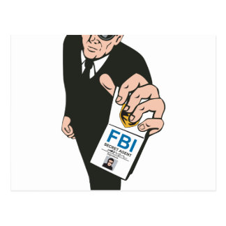 Secret Service Agent Body Guard Postcards