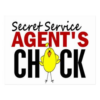 Secret Service Agent's Chick Postcard