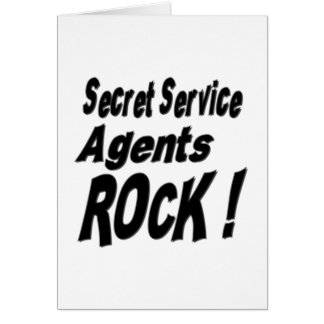 Secret Service Agents Rock! Greeting Card