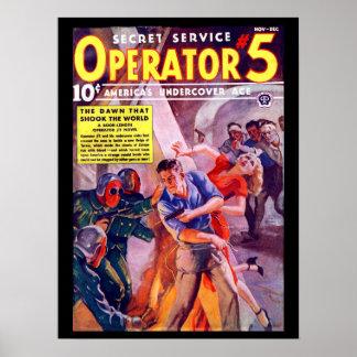 Secret Service Operator 5 - Nov-Dec 1938a_Pulp Art Poster