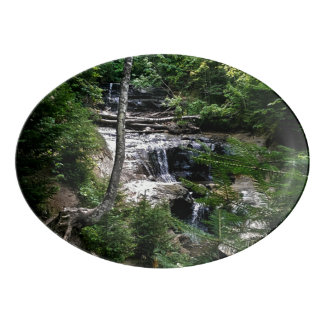 Secret waterfall porcelain serving platter