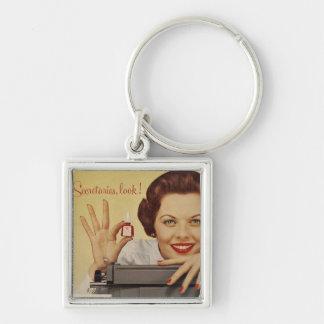 Secretaries Look Vintage Advert Keychain