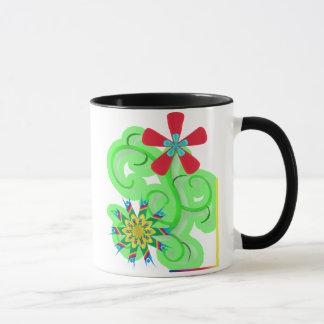 Secular Humanist & Atheist Symbol Flowers Mug