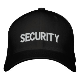 Security Emroidered Hat Embroidered Baseball Caps