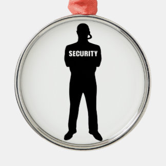 Security guard Silver-Colored round decoration