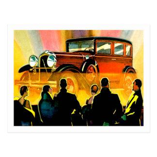 Sedan Touring Car Vintage Auto Advertisement Postcards