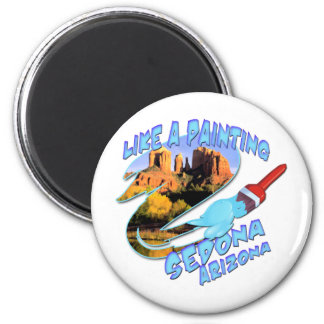 Sedona Arizona 6 Cm Round Magnet